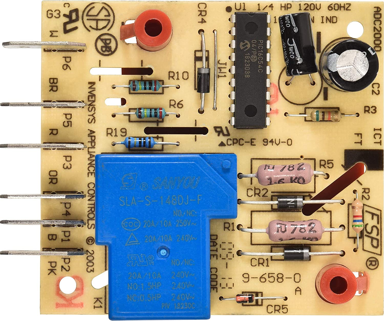 Ultra Durable W10352689 Refrigerator Main Control Board Replacement Part by Blue Stars - Exact Fit For Whirlpool & Kenmore Refrigerators - Replaces WPW10352689