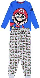 Gr Super Mario Bros Schlafanzug dblau-grau 104-140