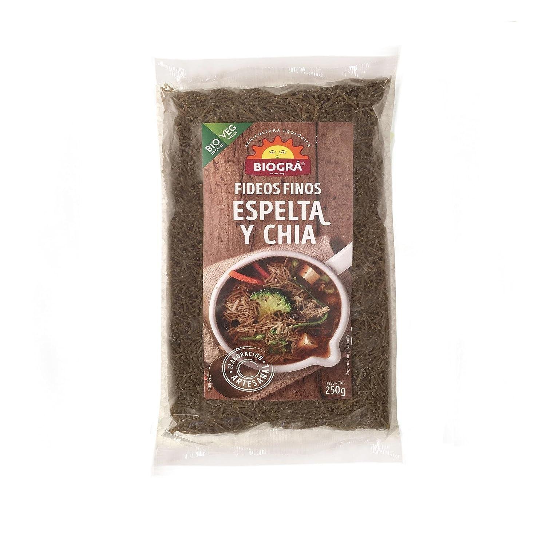 Fideo fino de Espelta con Chía Biográ Bio , 250g: Amazon.es ...