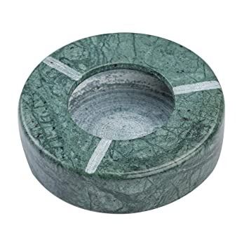 Marble Green Ash Tray for Indoor Outdoor Ashtray-Cigarette Ash Holder- Desktop Smoking Ash Tray for Home Office Handmade Gifts for Men