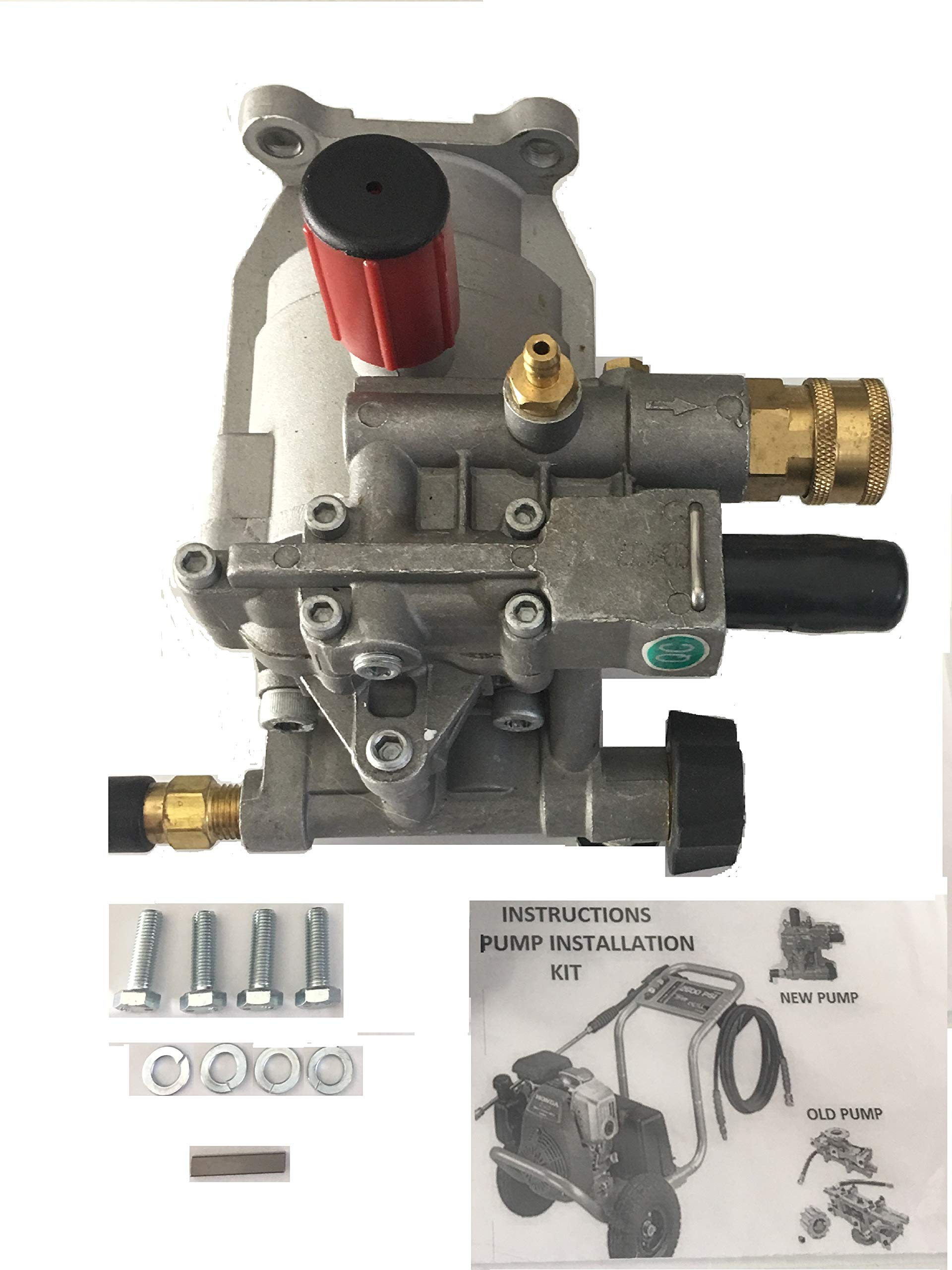 EXCELL DEVILBISS Pressure Washer KIT Replacement Pump A01801, A14292, D28744, Models XR2500 XR2625 XR2600 XC2600 EXHA2425 Radial Pump, Horizontal 7/8 Shaft by PRC