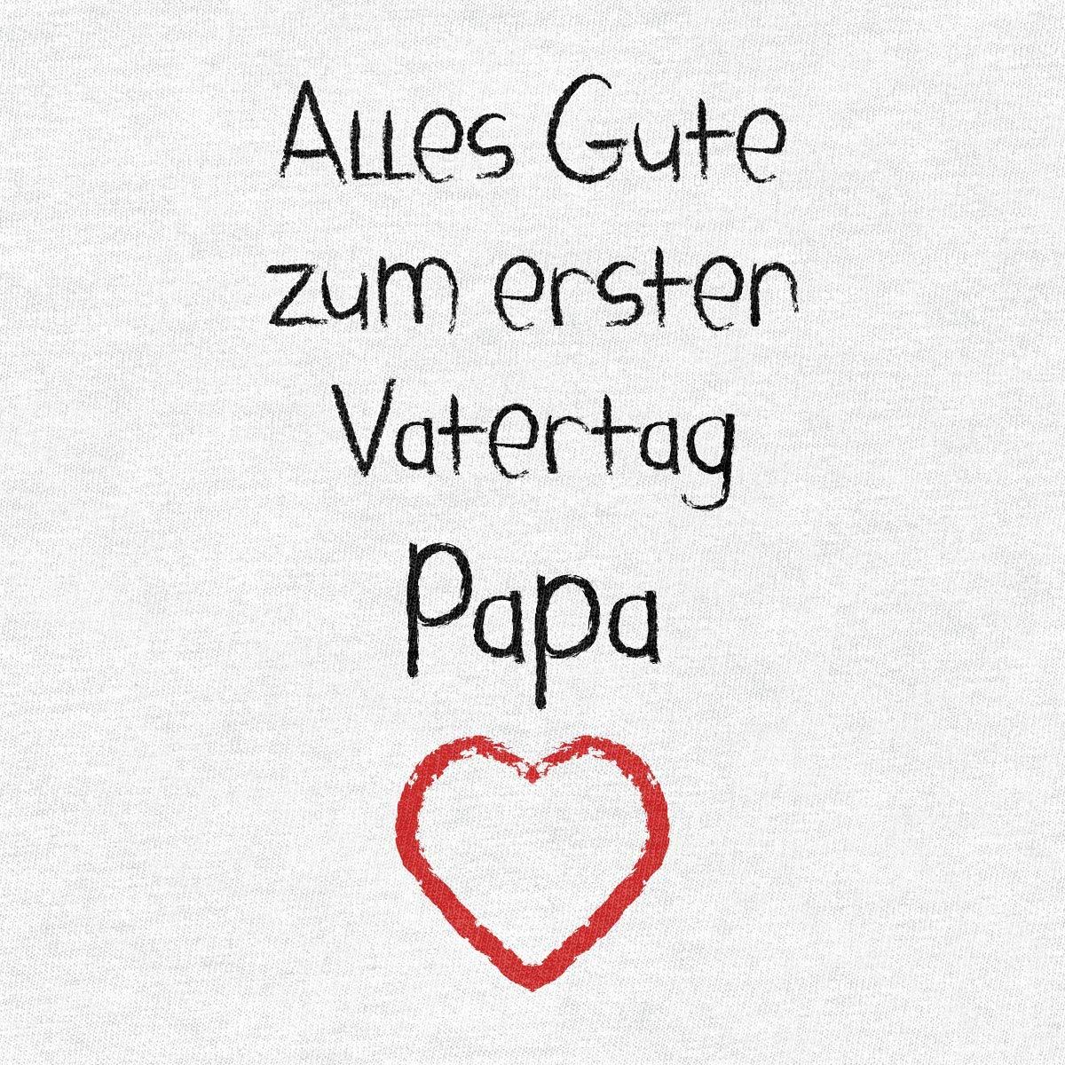 Shirtgeil Alles Gute Zum Ersten Vatertag Papa Herz Vater Baby Geschenk Baby Langarm Body