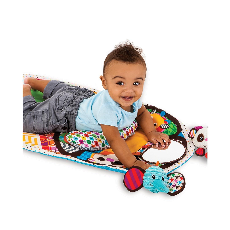 amazoncom  infantino peek and play tummy time activity mat  baby -