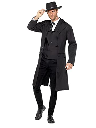 smiffy s 47242m bounty hunter costume mens black medium 38 40