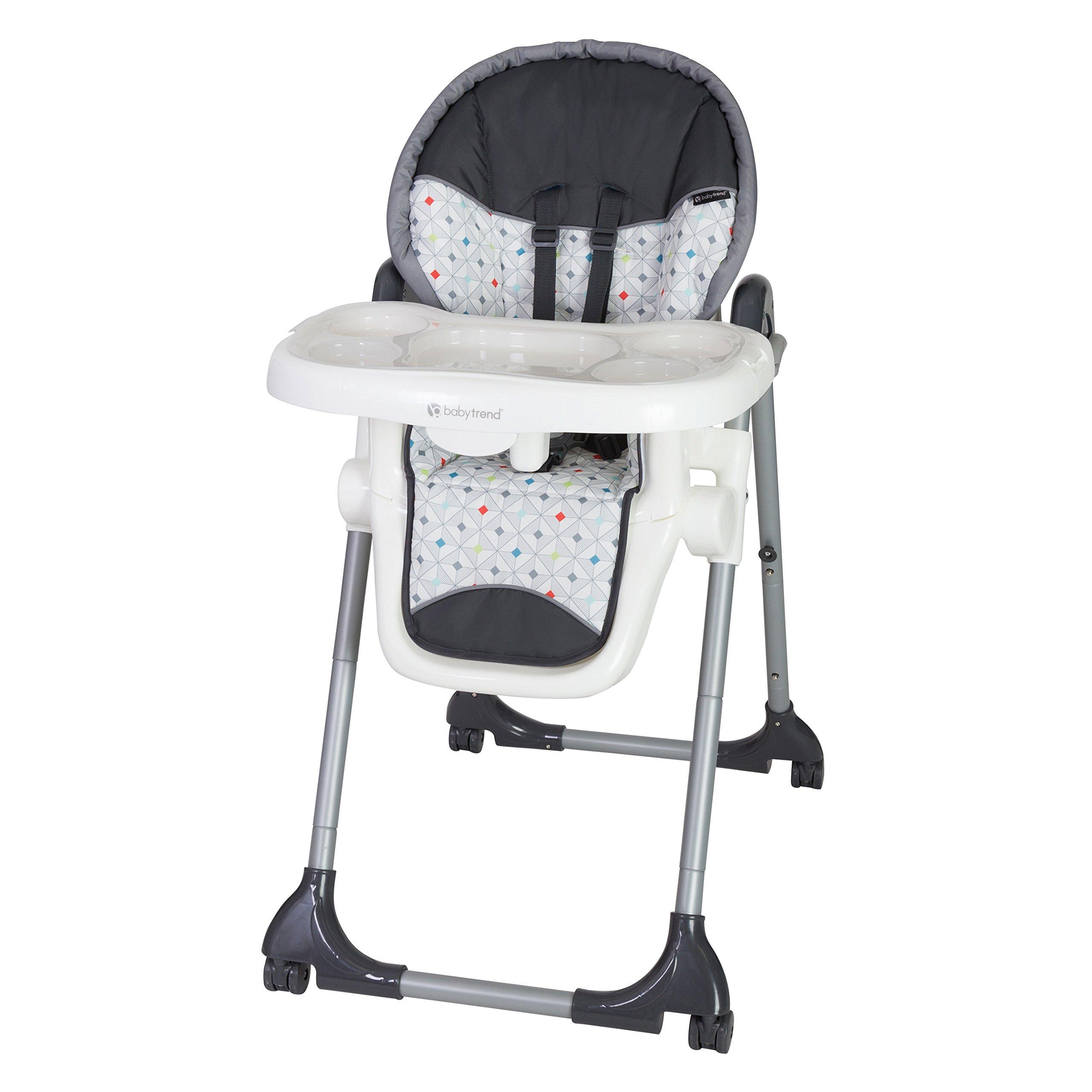 Baby Trend Deluxe 2 in 1 High Chair, Diamond Geo