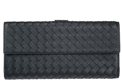 Bottega Veneta cartera billetera trifold de mujer en piel nuevo blu: Amazon.es: Zapatos y complementos