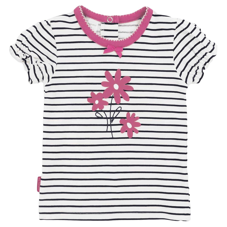 Blue Banana Baby Girls T-Shirt Short Sleeves, White, 24 Months Kushies Baby L16612400