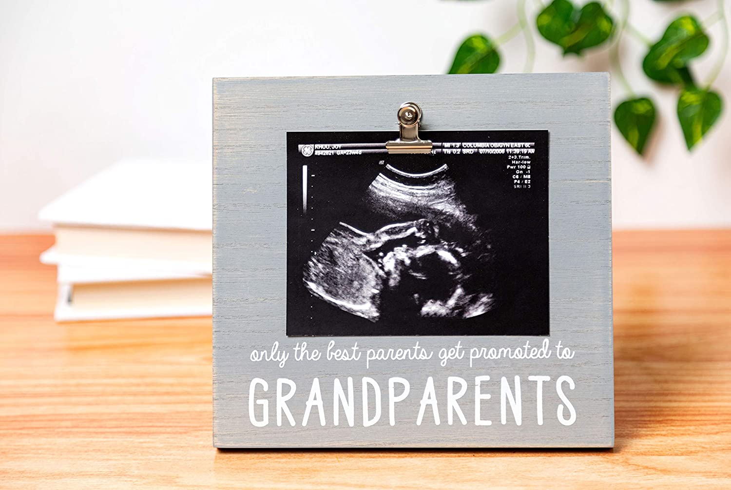 Ultrasound Pregnancy Announcement for Grandparents Pearhead Grandparents Sonogram Picture Frame Distressed Gray