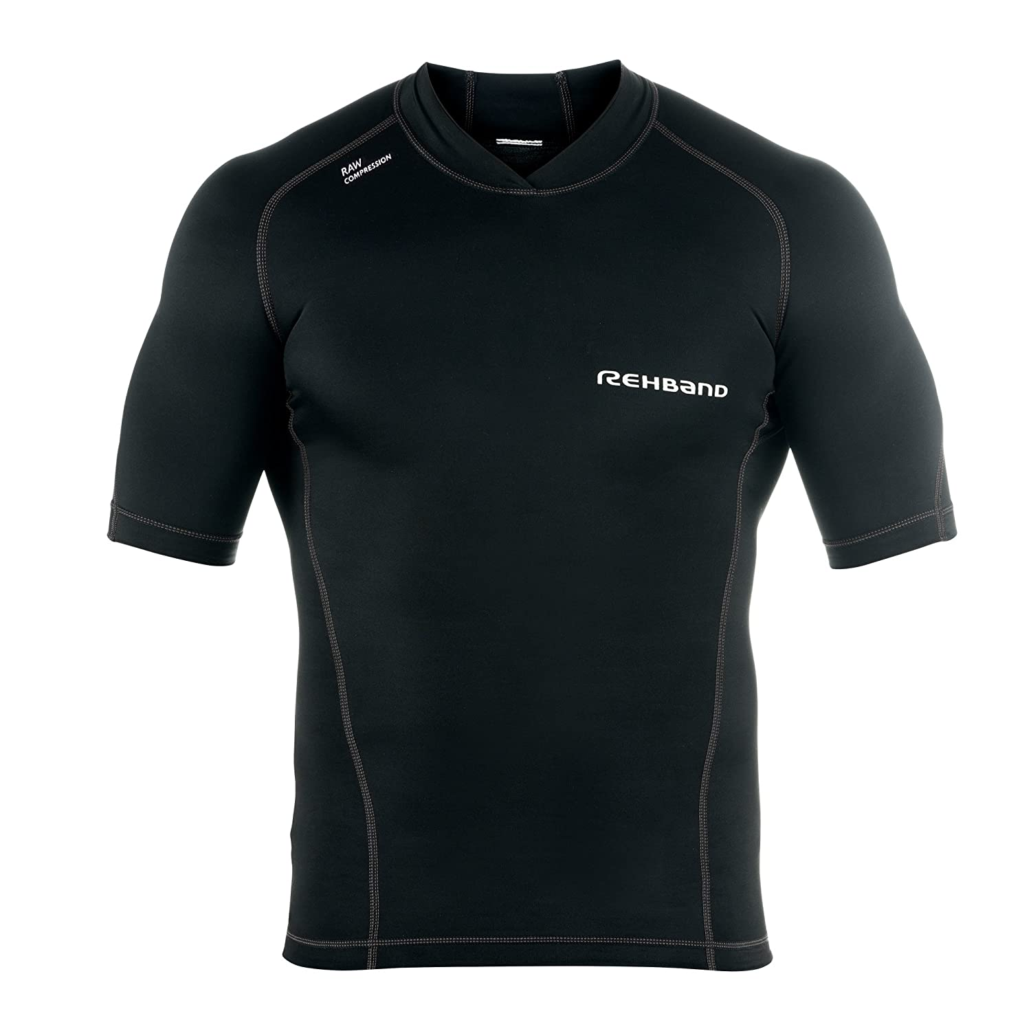 Rehband Herren Kompression RX Raw Compression, schwarz, 6190-06