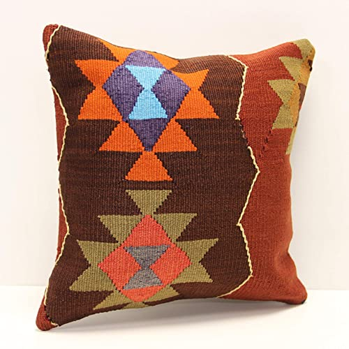 16x16 Handmade kilim pillow cover
