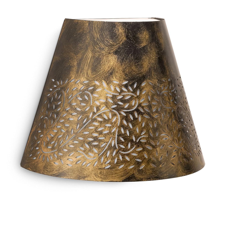 Philips Meadow Lampada da Parete da Esterno con Ornamento Metallo, Nero Spazzolato 172574216 lampade; parete