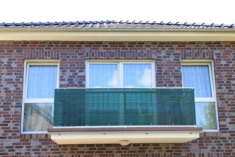 Dark Green Plastic Smart Deko Balcony Privacy Screen Balcony Cladding and Wind Protection and UV Protection for Balcony Camping and Leisure 90 x 100 cm Garden
