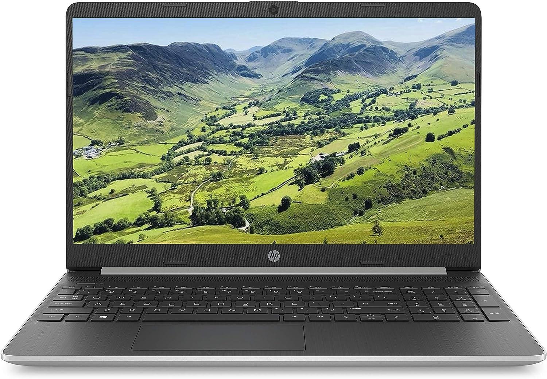 Intel Pentium Gold 5405U, 4 GB, 128 GB SSD, Windows 10 Home HP 15s-fq0024na 15.6 Inch Full HD Laptop Silver
