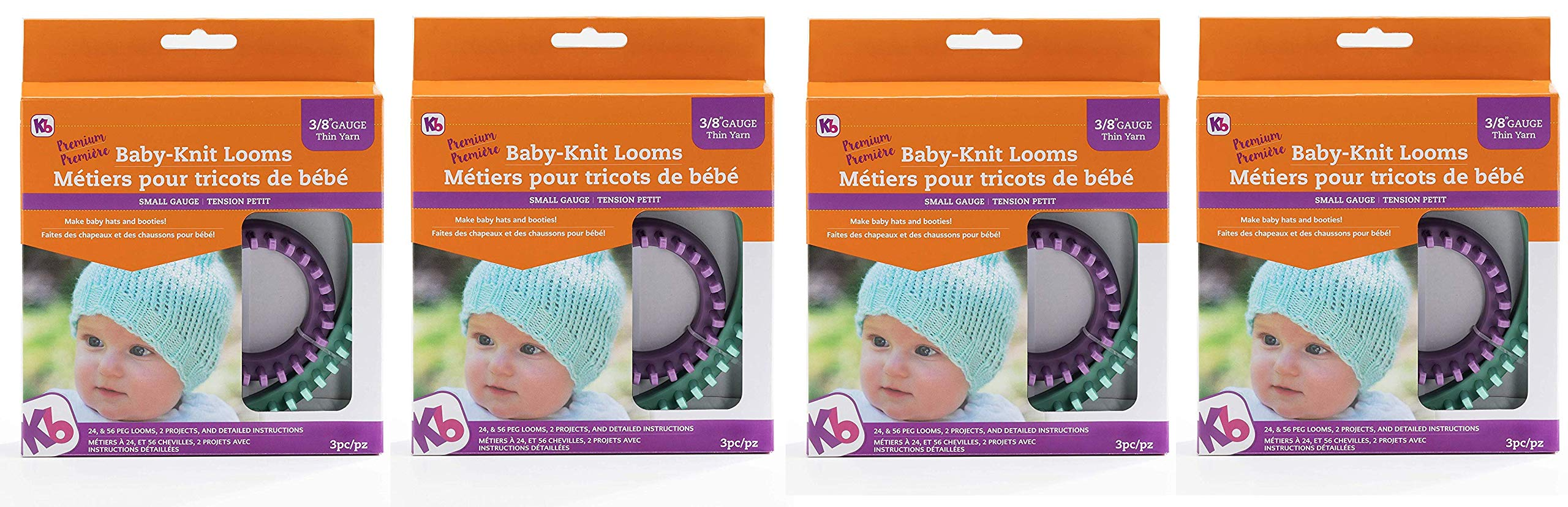 Authentic Knitting Board KB8200 KB Baby Knit Looms 3/8'' Gauge (Fоur Paсk)