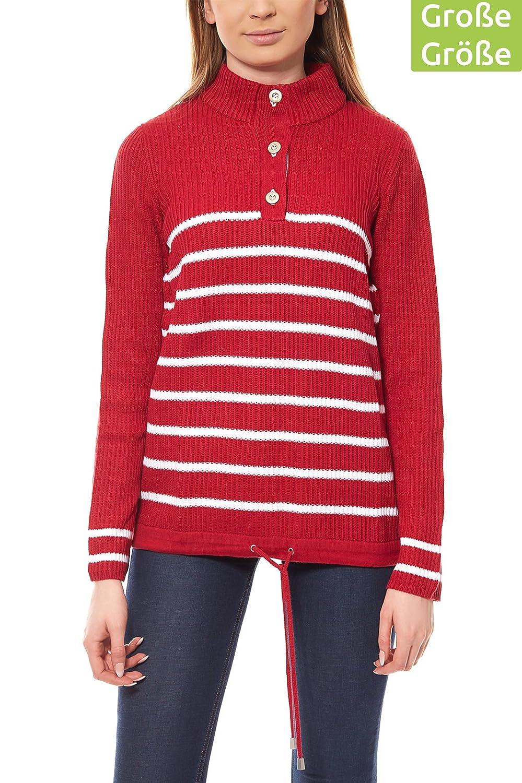 Best Connections by heine Damen Sweater Feinstrick Strick-Pullover Rosa B.C