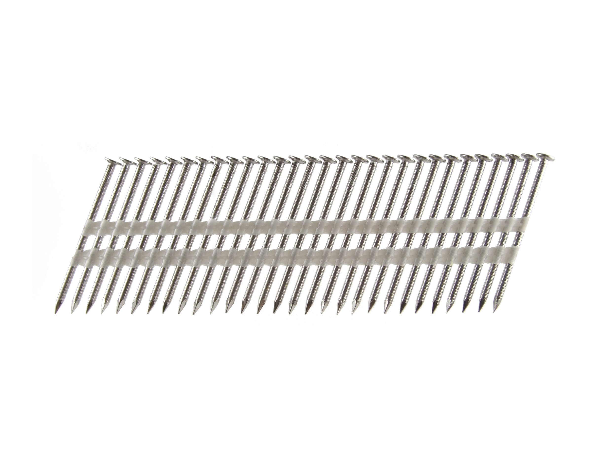 B&C Eagle A314X131RSS/22 Round Head 3-1/4-Inch x .131 x 22 Degree S304 Stainless Steel Ring Shank Plastic Collated Framing Nails (500 per box)