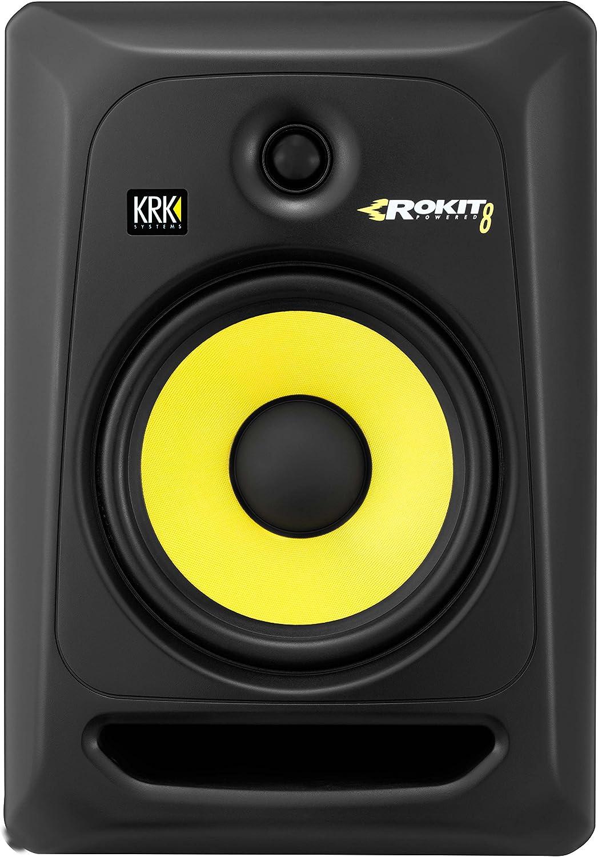 Amazon.com: KRK RP8G3 ROKIT 8 G3 2-Way Powered Studio Monitor  (Discontinued), Black, 8-Inch RP8G3NA: Electronics