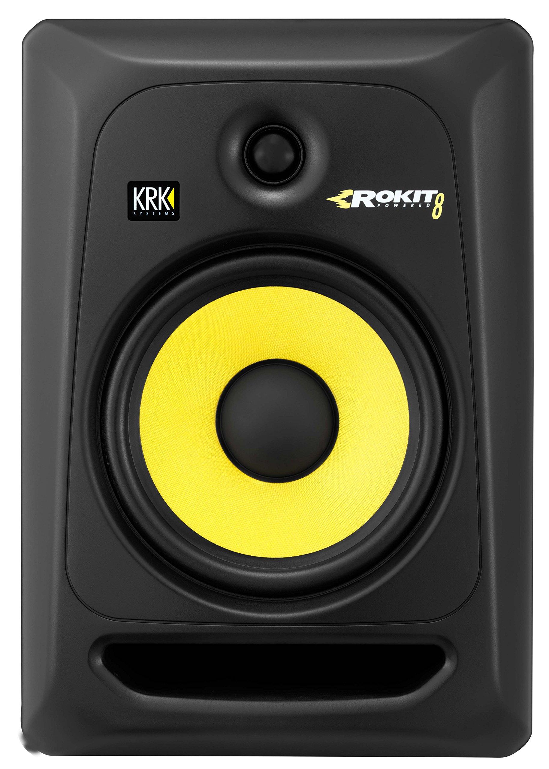KRK RP8G3 ROKIT 8 G3 8'' 2-Way Powered Studio Monitor, Black by KRK
