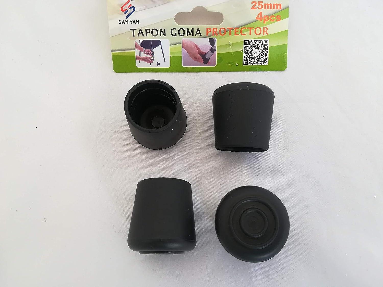 Tapones Goma Patas Sillas Taburete Andadores Silicona PACK 4 (25 ...