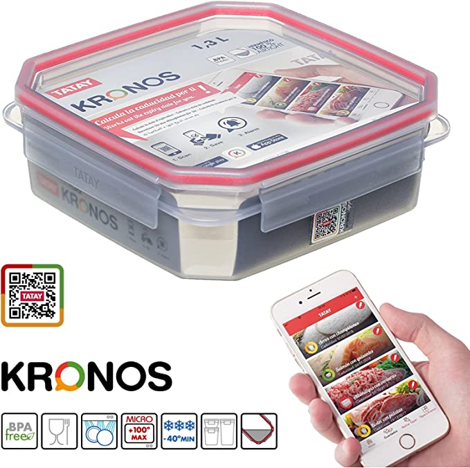 PracticFood - Juego 3 Contenedores Herméticos Clip Safe Kronos ...
