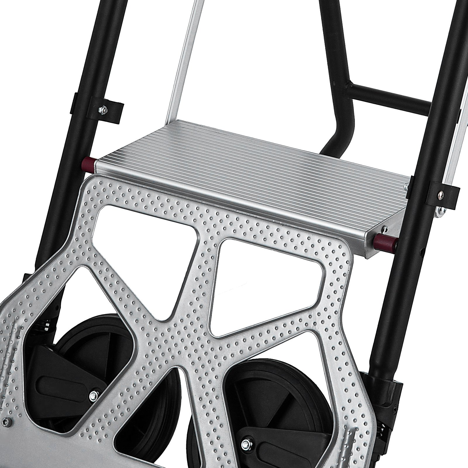 OrangeA 3-Steps Ladder Cart 2-in-1 Convertible Step Ladder Folding Hand Truck with Trolley by OrangeA (Image #6)