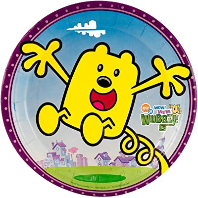 Unique Wow! Wow! Wubbzy! Small Paper Plates (8ct): Toys & Games