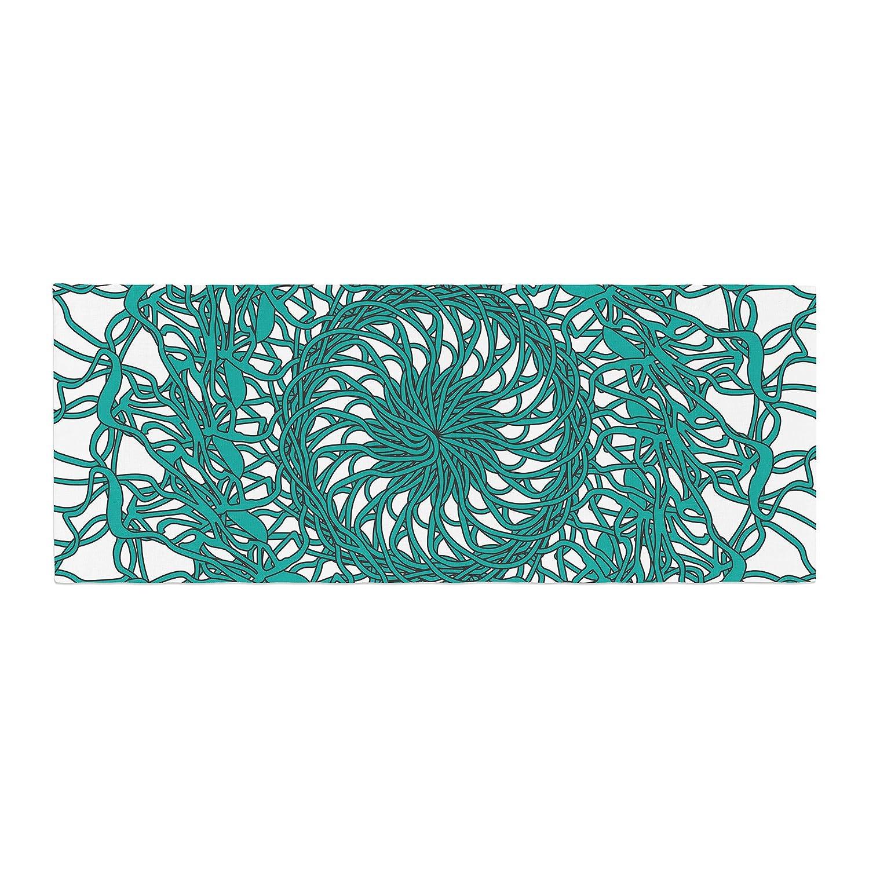 Kess InHouse Patternmuse Mandala Spin Jade Green Bed Runner JS3001CBR01