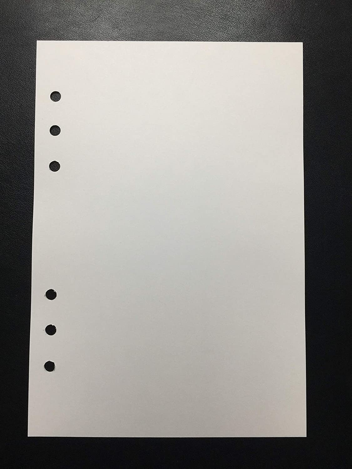 A5 White Plain Paper 6 Hole Punched or Unpunched Printable Blank Quality Unlined Paper No Lines Unlined