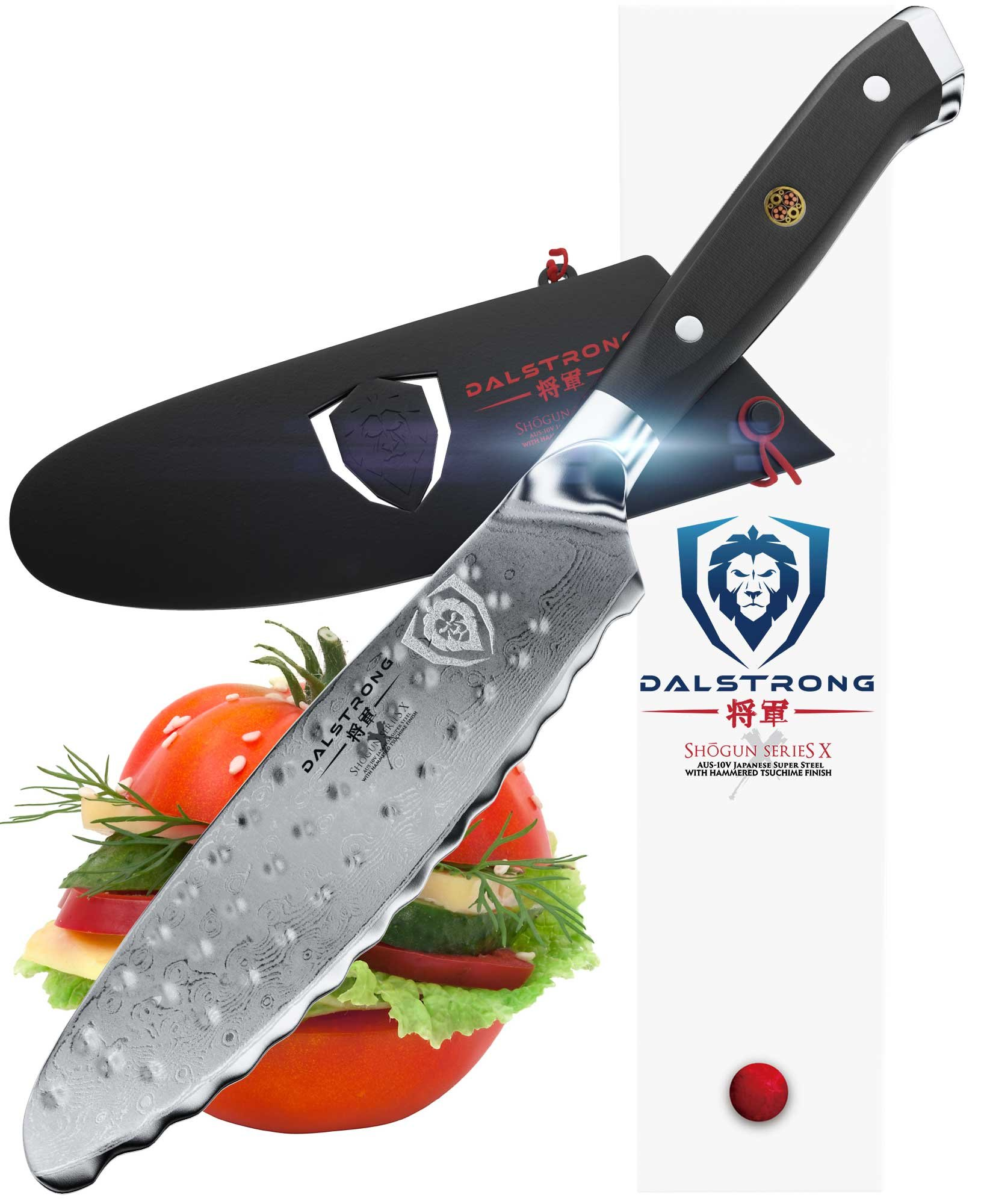 Dalstrong Ultimate Utility Knife - Shogun Series X - 6'' Sandwich Knife and Spreader- Japanese AUS-10V - Vacuum Treated - Guard Included