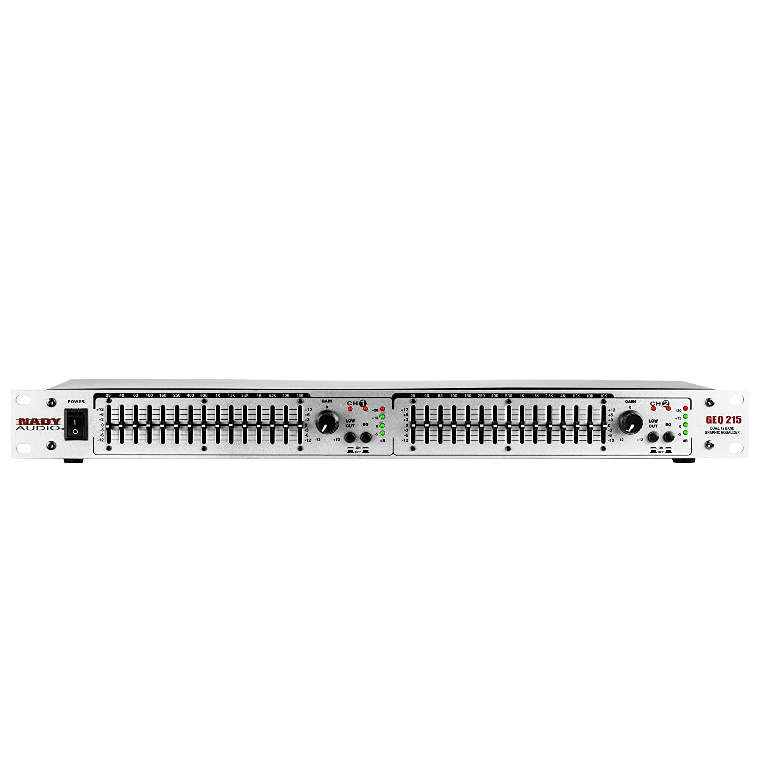 Nady GEQ-215 Rackmount Dual 15-Band Stereo Graphic Equalizer