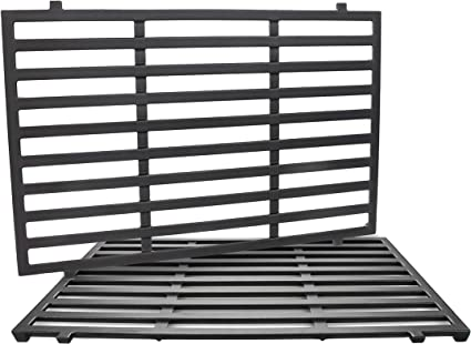 Hisencn Matte Cast-Iron Cooking Grates Grids Replacement for Weber 7526 3500 Grills aftermarket Replacements Genesis 1000 Fits Weber Spirit 300 Series Spirit 700