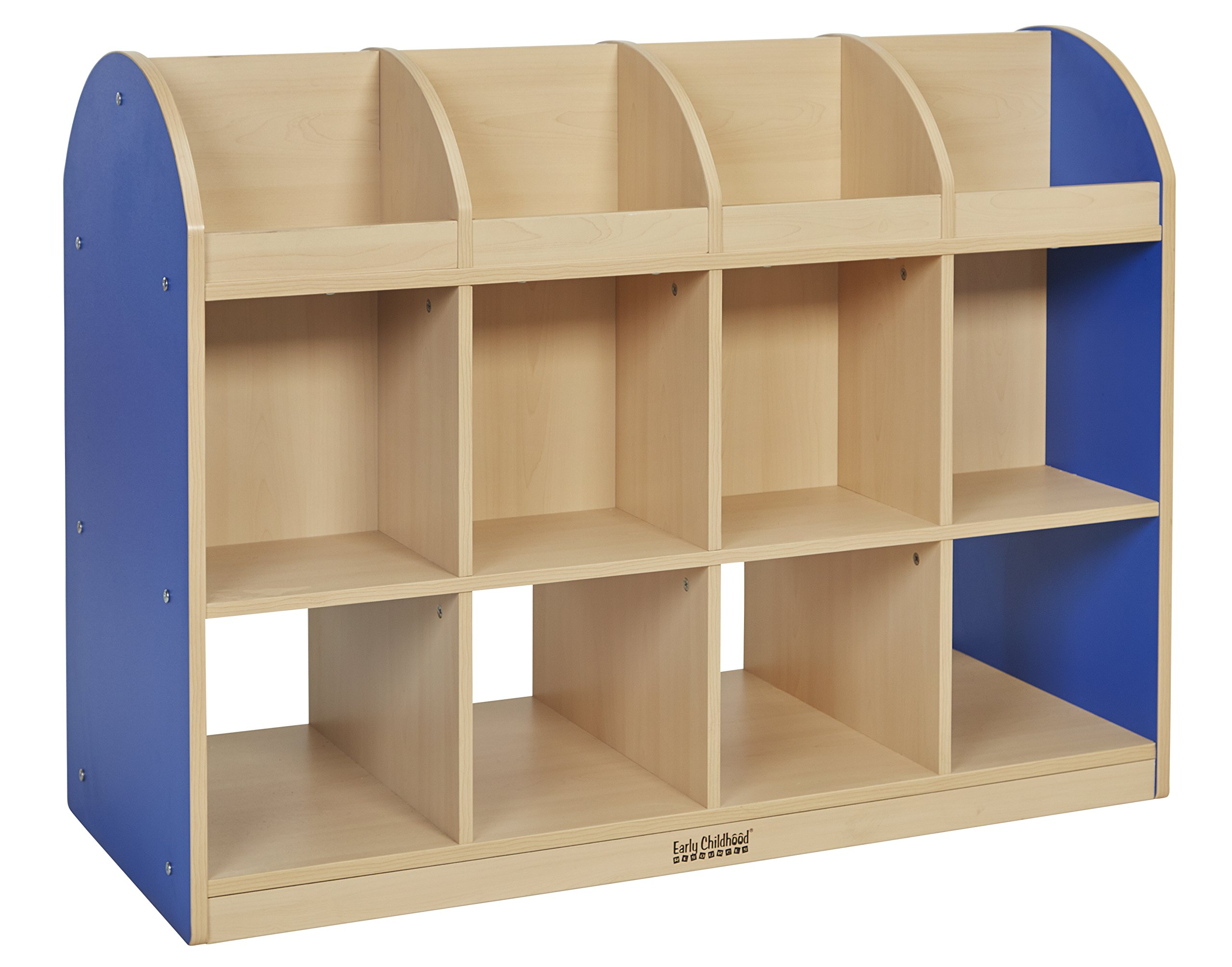ECR4Kids Colorful Essentials Double-Sided Book Display and Storage, Standard, Maple/Blue