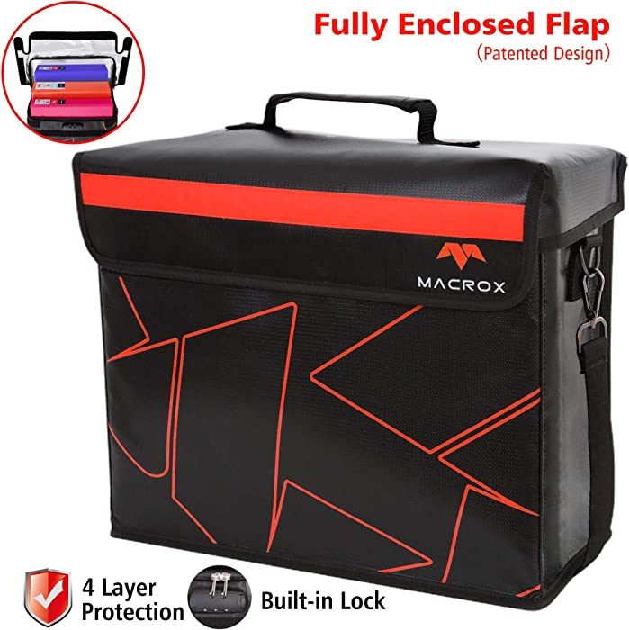 Flypal Fireproof Document Bags with Lock, Extra Large 16