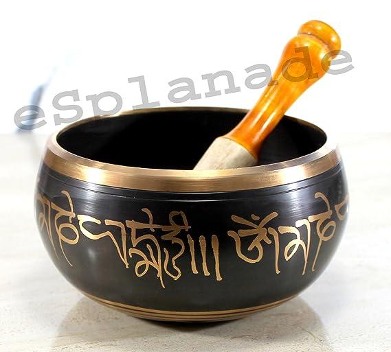 Esplanade - 6 pulgadas - cantando Bowl Tibetano Budista Oración instrumento con Striker Stick | Om Bell | Om meditación cuenco | cuenco | terapia musical: ...