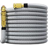"TITAN 25FT Garden Hose - All New Expandable Water Hose with Dual Latex Core 3/4"" Solid Brass Fittings Expanding Extra Strength Fabric Flexible Hose with Jet Nozzle and Washers"