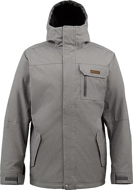 Burton Snowboardjacke MB Poacher Jacket - Chaqueta de esquí para hombre, color gris jaspeado, talla L