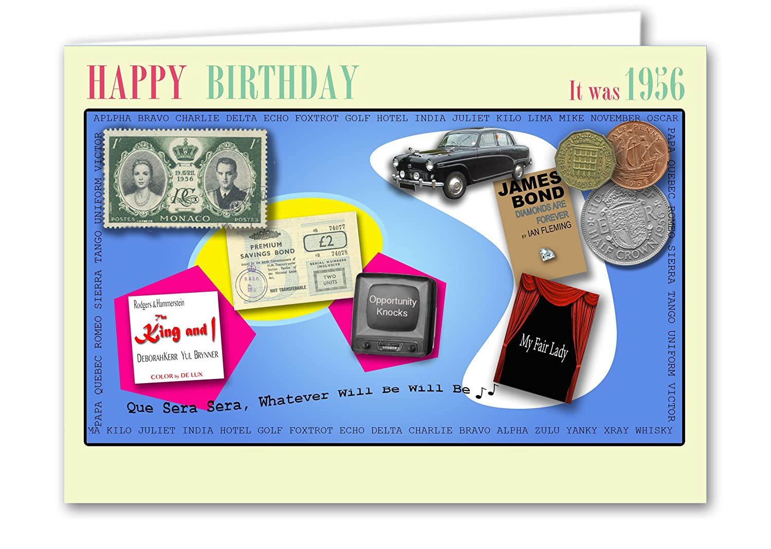 Galan Cards 63rd Birthday Card Souvenir Of 1956 Amazoncouk Kitchen Home
