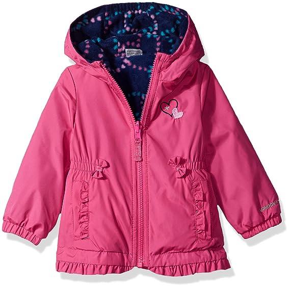 7096343d206f Amazon.com  London Fog Baby Girly Girl Midweight Reversible Jacket ...