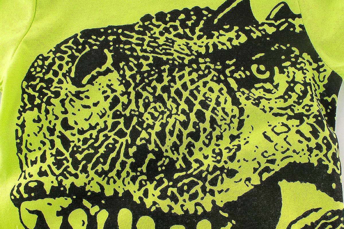 YEMOCILE T-Shirt Bambino Dinosauro Maglietta a Maniche Corte con Dinosauro per Bambino Ragazzi 1-10 Anni