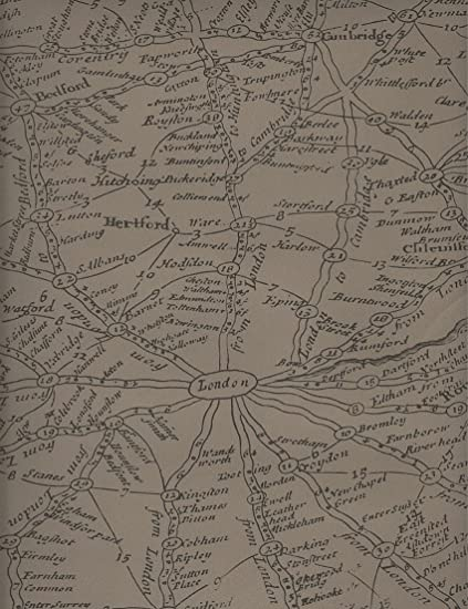 Amazon.com: Kathy Kuo Home Vintage Masculine London Map Wallpaper - Coffee - 2 Rolls: Kitchen & Dining