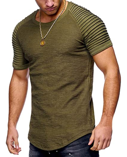 Amazon.com  XARAZA Men s Slim Fit Long Sleeve Muscle T-Shirt Blouse ... a2610f9b84e0