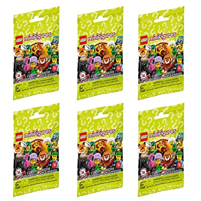 LEGO Minifigure Series 19 - New Sealed Blind Bags - Random Set of 6 (71025): Toys & Games