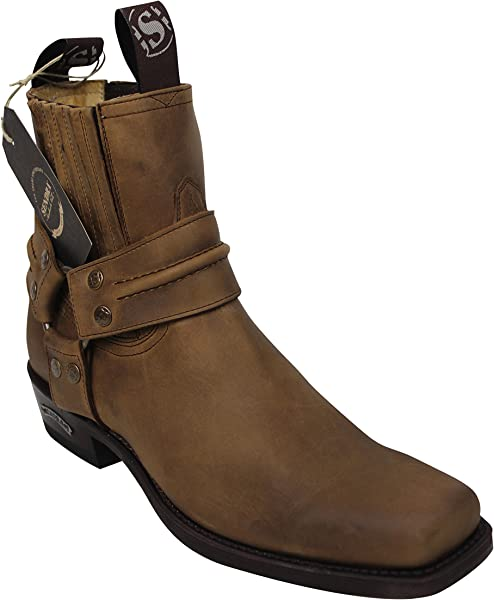 cb7c808cc79 Sendra Cowboy Biker half boots 2746 in brown with Roy Dunn´s boot polish  and Boot Jack