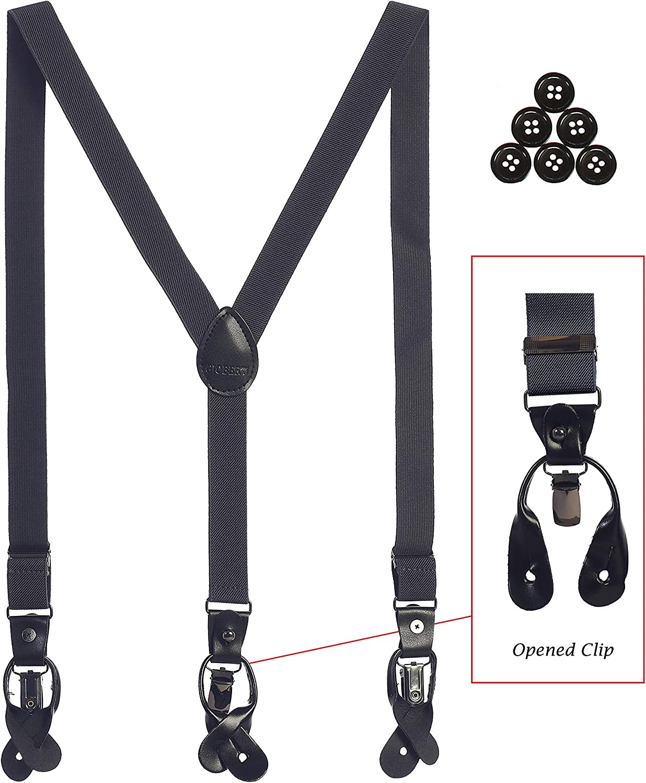 Bow Tie Gioberti Boys Convertible Suspenders and Hanky Set