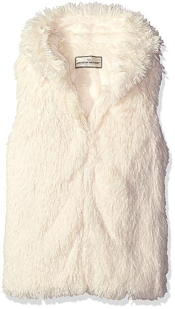 037d064c4635 Widgeon Girls' Little Girls' Shaggy Faux Fur Hooded Vest, Ice Frosting ...