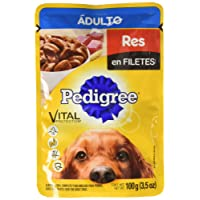 Pedigree Sobres Alimento Húmedo Adulto Res en Filetes, Adulto, 100 gr