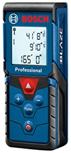 Bosch Blaze Pro Laser Distance Measure, 165' GLM165-40