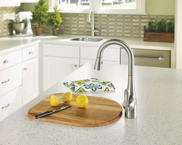 Moen 5995SRS Arbor One Handle High Arc Pulldown Bar Faucet