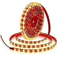 ALITOVE 16.4ft 5050 SMD Black PCB Orange LED Flexible Strip Light lamp 5M 300 LEDs Waterproof IP65 12V DC for Home…