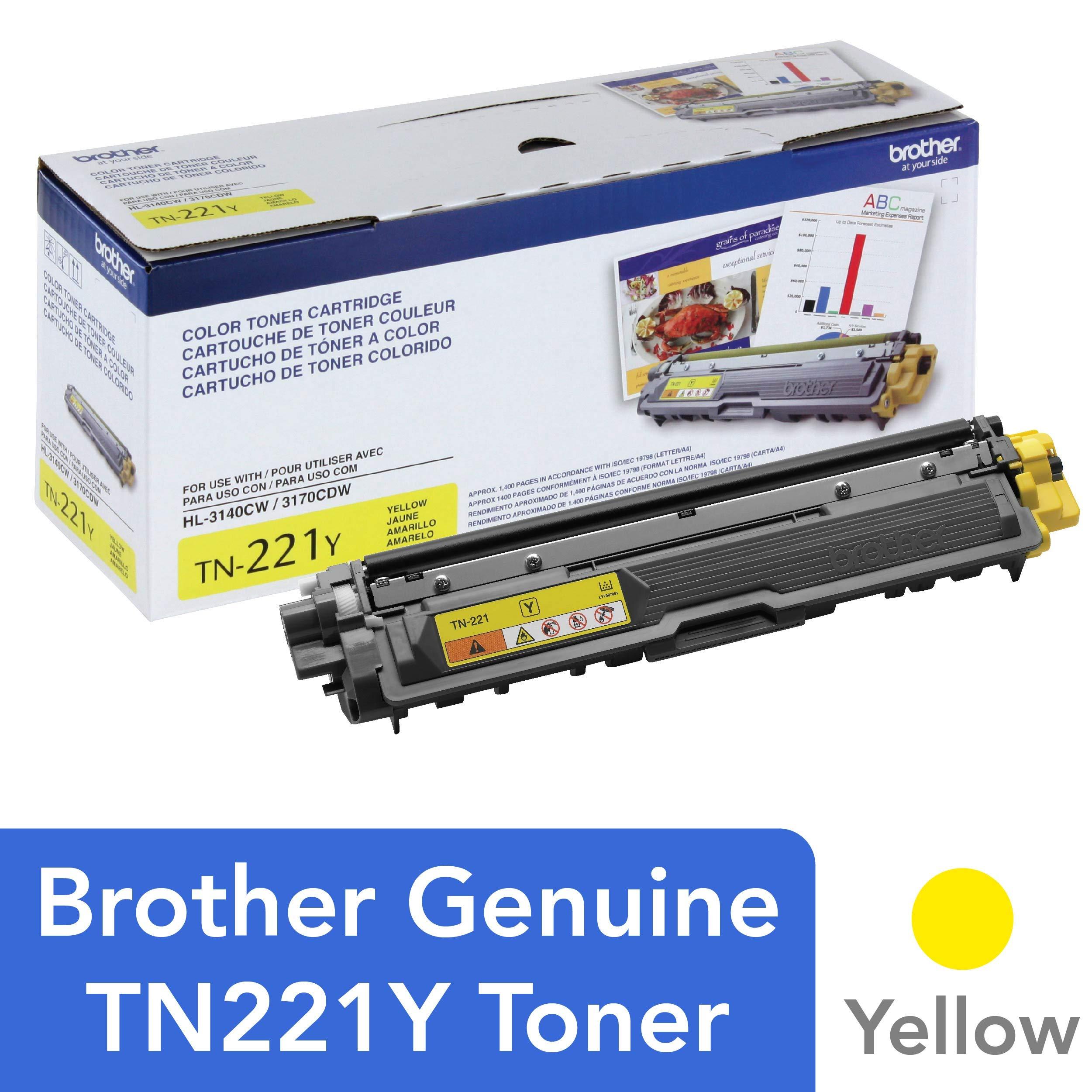 GENUINE OEM BROTHER TN210Y YELLOW TONER CARTRIDGE